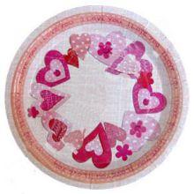 """Упаковка тарелок """"Сердечки"""" (6 шт)"""