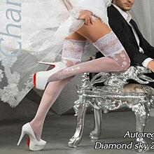 Свадебные чулки Charmante DIAMOND SKY (L/XL, белый, 20 den)