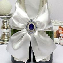 """Декор для шампанского """"Королевский сапфир"""""""