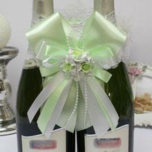 """Декоративное украшение для шампанского """"Сладкая мята"""""""