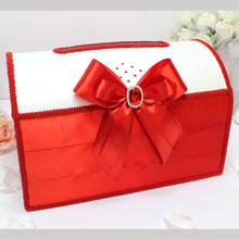 Сундучок для денег и пожеланий Ренессанс (большой) (красный)