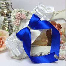 Подвязка свадебная Королевский сапфир