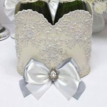 """Свадебное украшение для шампанского """"Вальс"""""""
