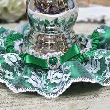Подвязка для невесты Ренессанс (изумруд)