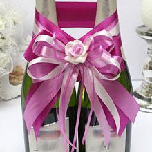 """Декоративное украшение для шампанского """"Пурпурный рассвет"""""""