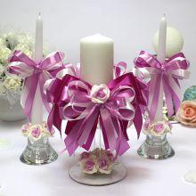 """Домашний очаг + 2 свечи """"Пурпурный рассвет"""""""