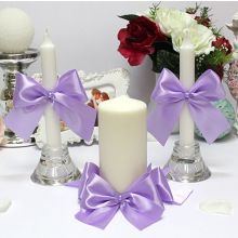 Домашний очаг + 2 свечи Paradise (без подсвечников) (сиреневый)