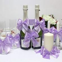 Набор свадебных аксессуаров Paradise (3, сиреневый)