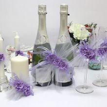 """Набор свадебных аксессуаров """"Цветочная симфония"""" (3, сиреневый)"""
