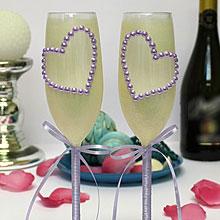 Свадебные бокалы с ручной росписью