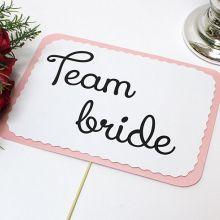 """Набор табличек для для фотосессии """"Team bride, team groom"""" (2 шт)"""