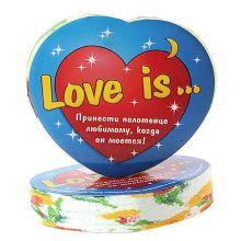 """Сувенирное полотенце """"Love is..."""" (26*50 см)"""