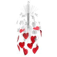 """Каскад подвесной """"Сердца и цветы"""" (высота - 55 см)"""