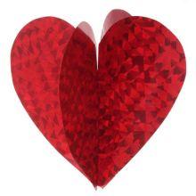 Подвесные объемные сердца (6 шт)