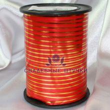 Оформительская лента (цена за метр) (красно-золотой)