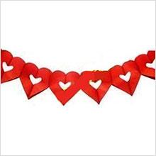 Гирлянда Сердце (красная, 4 м)
