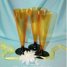 Фужеры пластиковые для шампанского (6 шт) (желтый)