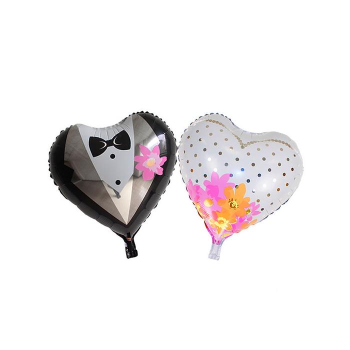 """Шар фольгированный """"Два сердца"""", 2 шара сердце"""