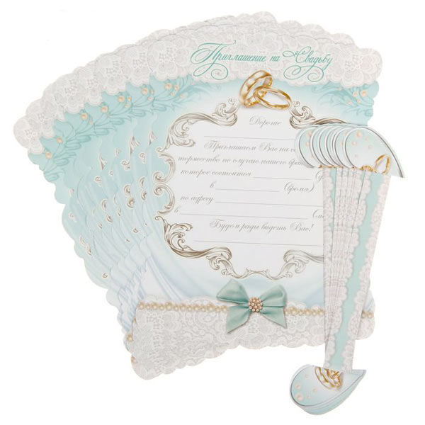 """Свадебное приглашение-свиток """"Тиффани"""""""