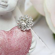Свадебная шпилька для невесты Стразовый цветок