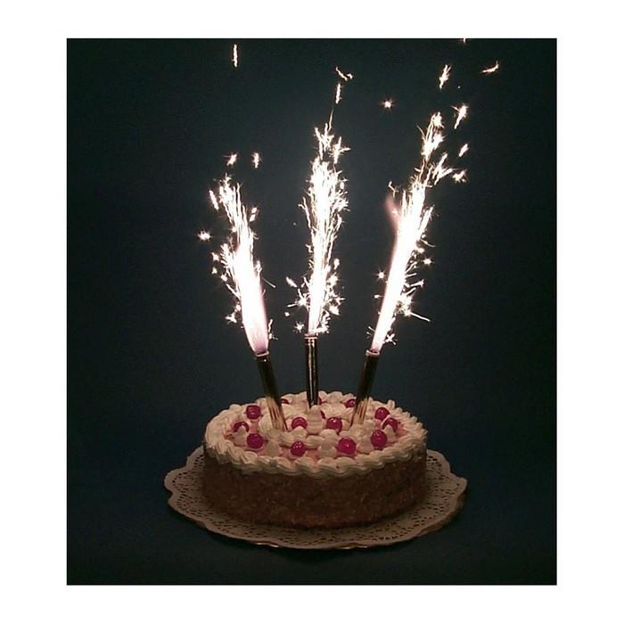 """Холодный фонтан в торт """"Феерия"""", 4 шт. (12,5 см)"""