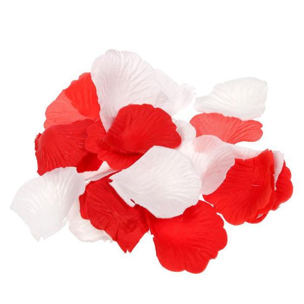 Кулечек + лепестки (цвет: красный+белый)