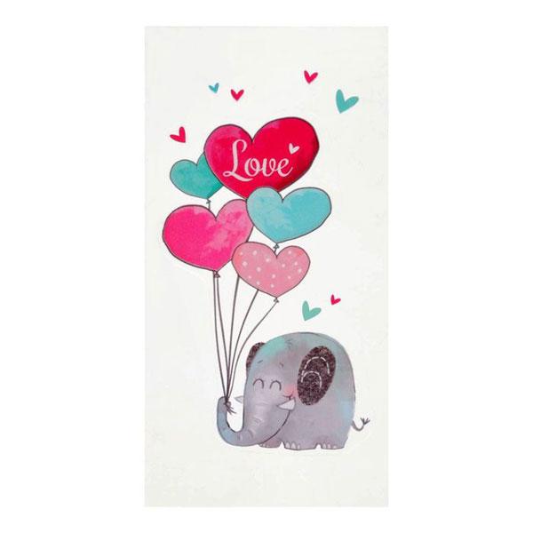 """Сувенирные наклейки для телефона """"Влюбленный слоник"""""""