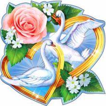 """Свадебное украшение """"Лебеди"""""""