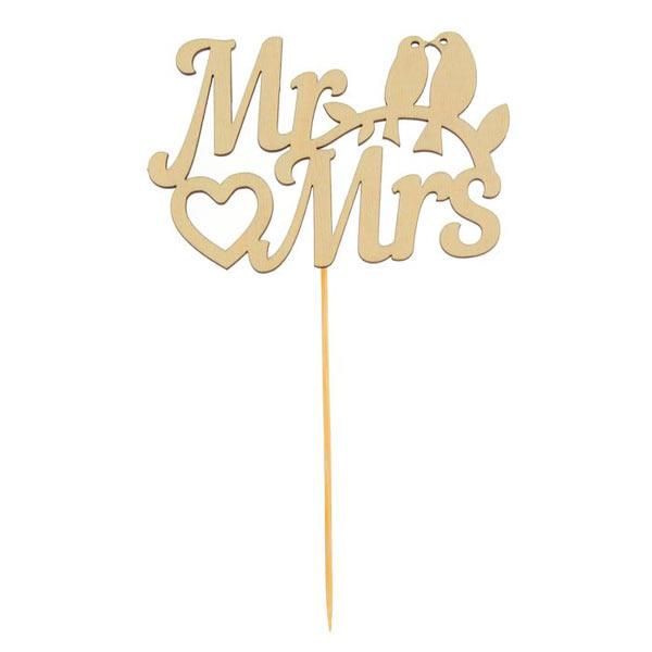 "Топпер (для торта, для декора) ""Mr & Mrs"""