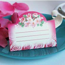 """Рассадочная карточка """"Розовый букет"""""""