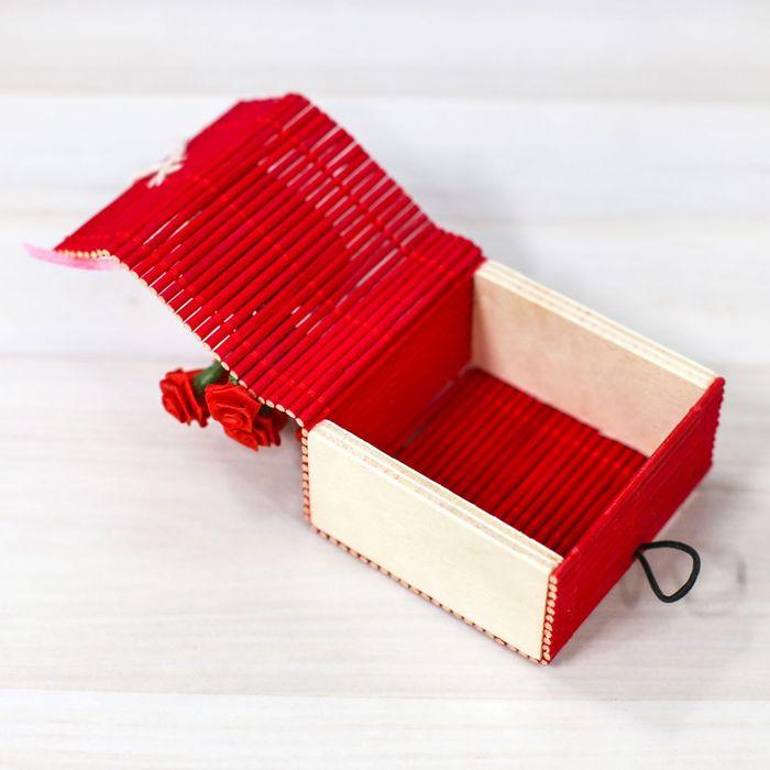 """Коробочка для колец """"С любовью"""", красный"""