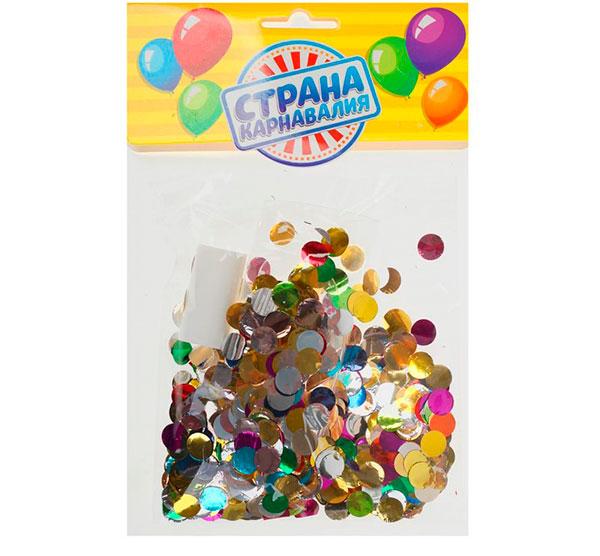 Воздушный шар с наполнением (25 см, круглое конфетти)