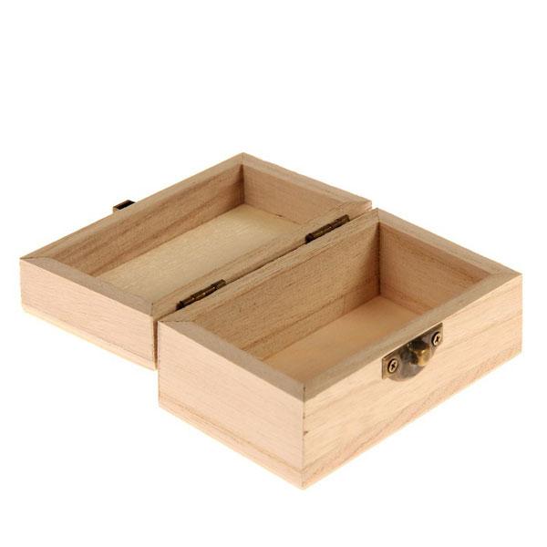 """Деревянная коробочка для колец """"LOVE """", 6х10х4,7 см"""