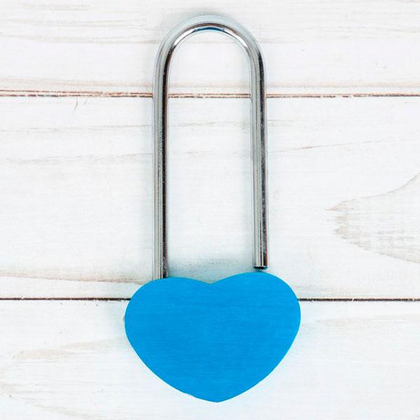 """Замочек любви """"Вместе навсегда"""" (голубой, без ключей)"""