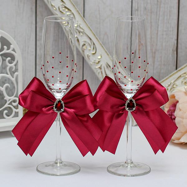 Набор свадебных бокалов молодоженов Ренессанс (2 шт) (винный)