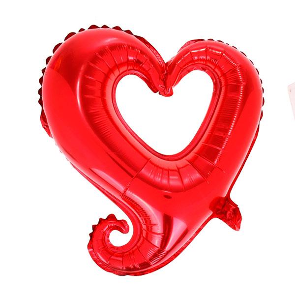 """Фольгированный воздушный шар """"Сердечко"""" (45 см; без выбора цвета)"""