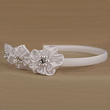 """Свадебный ободок """"Белые цветы"""""""