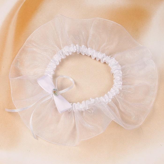 """Подвязка для невесты """"Легкость"""", белая"""