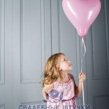 Шар Сердце розовое - большой (63 см)