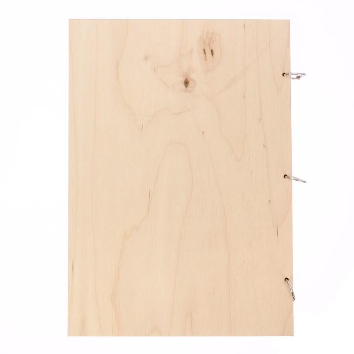 """Папка для свидетельства """"Цветочное настроение"""", дерево"""
