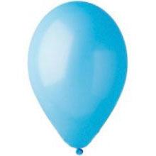 Шар круглый (26 см) голубой матовый