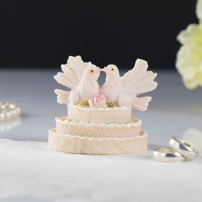 """Фигурка для торта """"Влюбленные голубки"""", полистоун"""
