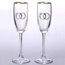 """Свадебные бокалы """"Обручальные кольца"""" (2 шт)"""