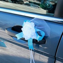"""Бутоньерка на машину """"Саломея"""" (2 шт., голубой)"""