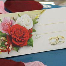 """Рассадочные карточки для гостей """"Букет роз"""""""
