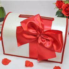 Сундучок для денег на свадьбу Классика (большой) (красный)