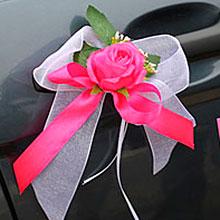"""Бутоньерки на авто """"Amore"""" (ярко-розовый, 2 шт.)"""