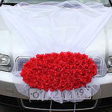 Композиция на капот «Свадьба» (красный)