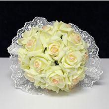 """Свадебный букет невесты """"Нежность"""" (айвори/розовый)"""