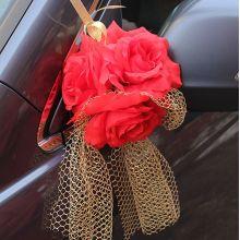 Бутоньерки на авто Адажио (красный)